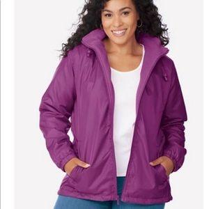 Totes magenta water resistant storm jacket
